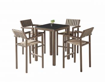 Shop By Category - Outdoor Bar Sets - Amber Bar Set for 4 with Arm Chairs