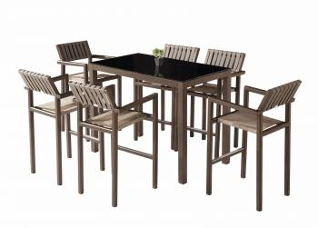 Shop By Category - Outdoor Bar Sets - Amber Bar Set for 6 with Arm Chairs