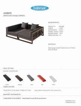 Amber Modular Double Daybed