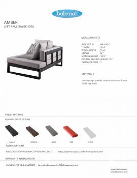 Amber Left Arm Chaise