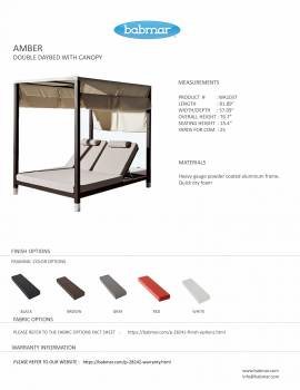 Amber Double Daybed with canopy - Image 2