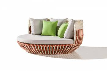 Apricot Low back Daybed with Canopy - Image 3