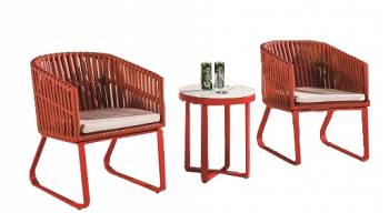 Shop By Category - Outdoor Seating Sets - Apricot Seating Set for 2 with Sidestraps