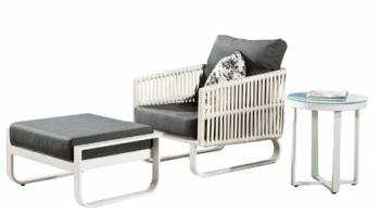 Shop By Category - Outdoor Seating Sets - Apricot Club Chair with Ottoman and Side Table