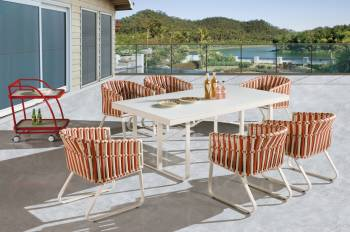 Apricot Dining Set for 6 - Image 2