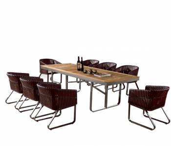 Shop by Category  - Outdoor Dining Sets - Apricot Dining Set for 8