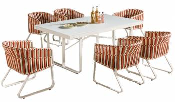 Shop by Category  - Outdoor Dining Sets - Apricot Dining Set for 6