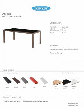 Amber Dining Set For 8 - Image 3