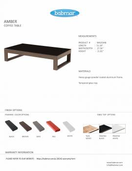 Babmar - Amber Rectangular Coffee Table - Image 2