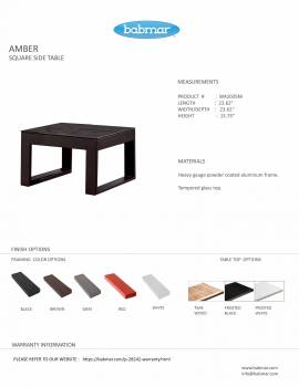 Amber Square Side Table - Image 3
