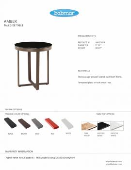 Amber Tall Side Table