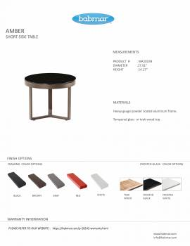 Amber Short Side Table - Image 3