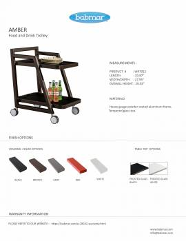 Amber Food and Drink Trolley - Image 4