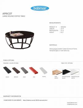 Apricot Large Round Coffee Table - Image 2