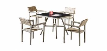 Shop by Category  - Outdoor Dining Sets - Asthina Dining Set For 4 with Arms