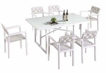 Shop by Category  - Outdoor Dining Sets - Asthina Dining Set For 6 With Arms