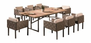 Shop by Category  - Outdoor Dining Sets - Asthina Dining Set For 8 with Side Straps
