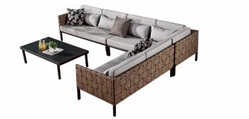 Shop By Category - Outdoor Seating Sets - Asthina Sectional Sofa Set