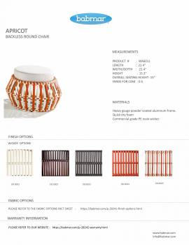 Apricot Backless Round Chair - Image 2