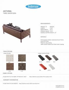 Asthina Three Seater Sofa - Image 4