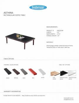 Asthina Rectangular Coffee Table