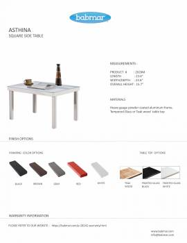 Asthina Square Side Table - Image 3
