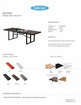 Asthina Dining Table For Eight - Image 2