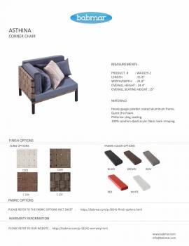 Asthina Corner chair