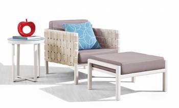 Shop by Category  - Outdoor Seating Sets - Asthina Club Chair with Ottoman and Side Table