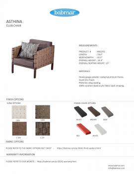 Asthina Club Chair with Ottoman and Side Table