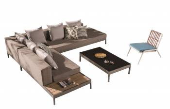 Shop By Category - Outdoor Seating Sets - Barite Sofa Set for 6 with Built-in side table