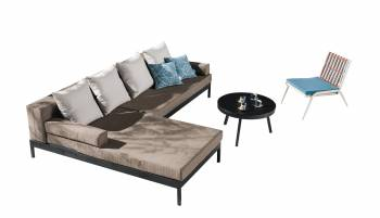 Shop By Category - Outdoor Seating Sets - Barite Sectional Sofa and Chair for 5
