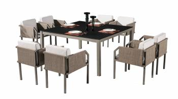 Shop by Category  - Outdoor Dining Sets - Barite Dining Set for 8