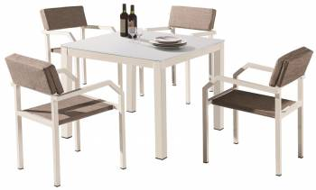 Shop by Category  - Outdoor Dining Sets - Barite Dining Set for 4 With Arms