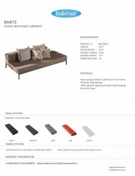 Barite Sofa Set for 6 with Built-in side table - Image 4