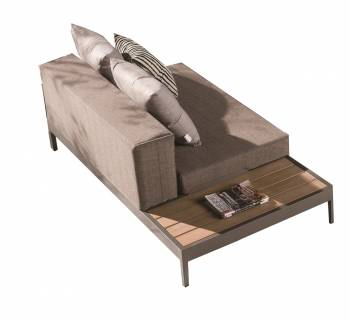 Barite Chaise With Built-in Side Table - Image 1