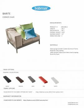 Barite Sectional Sofa and Chair for 6 - Image 3