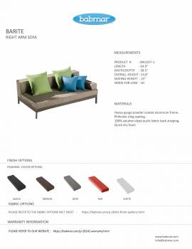 Barite Sectional Sofa and Chair for 6 - Image 5
