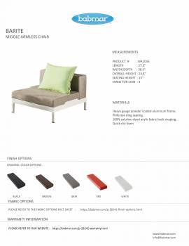 Barite Middle Armless Chair - Image 2
