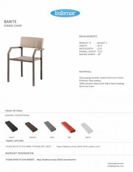 Barite Dining Chair With Armrests - Image 2