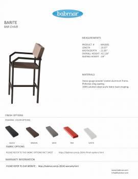 Barite Bar Set for 2