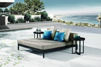 Barite Outdoor Chaise Lounge Daybed Set