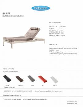 Barite Outdoor Chaise Lounge - Image 4