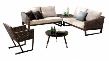 Shop By Category - Outdoor Seating Sets - Cali Sectional Set With Chair