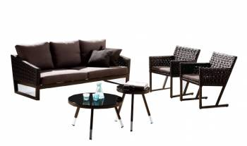 Shop By Category - Outdoor Seating Sets - Cali Sofa With 2 Chairs