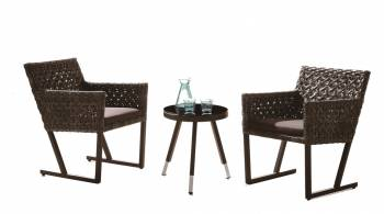 Shop By Category - Outdoor Seating Sets - Cali Seating Set for 2 with side table