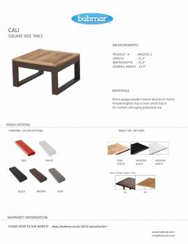 Cali Square Side Table