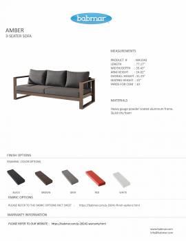 Amber 3 Seater Sofa