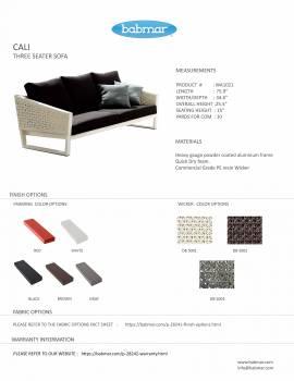 Cali Sofa Set