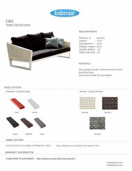 Cali Three seater sofa